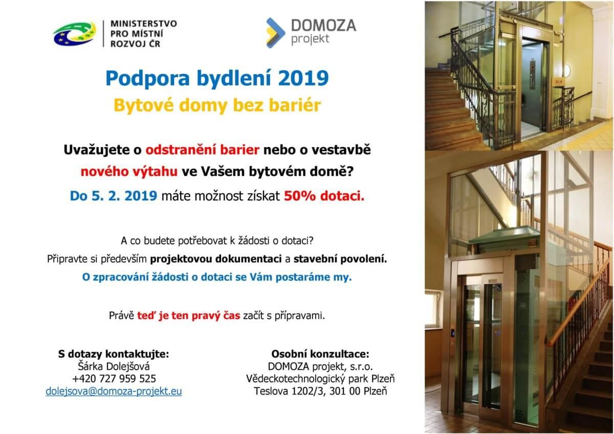 Bytové Domy Bez Bariér 2019 Domoza Projekt Sro